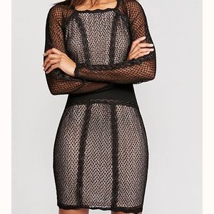 Free People Mixed Mesh Bodycon Dress